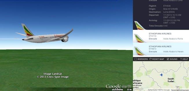 Dreamliner Goes Google Earth Aerotelegraph