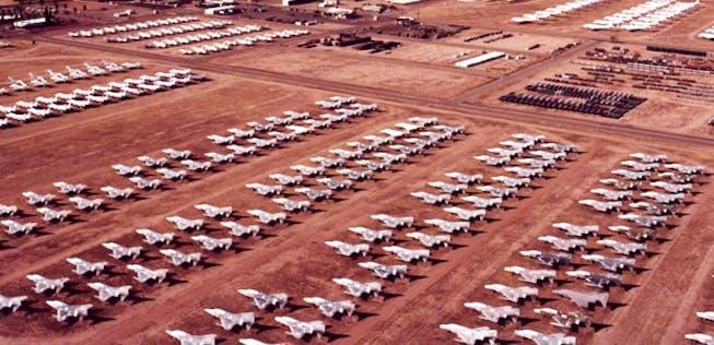 Flugzeugfriedhof Spanien