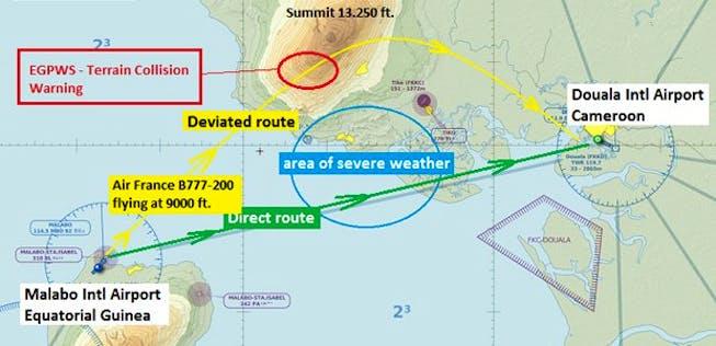 Untersuchung: Air-France-777 kollidierte fast mit Berg ...