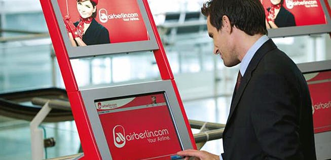 Air Berlin schafft Check In Automaten ab